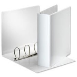 "4 D Ring Binder A4 White 25mm (1"") [225 sheets]"