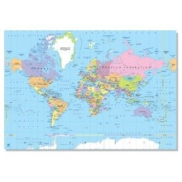 Laminated world map political 70 x 100cm english gumiabroncs Image collections