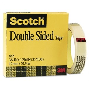 3m scotch 665 3436 double sided tape 3 4 x 36 yards. Black Bedroom Furniture Sets. Home Design Ideas