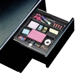 3m post it c71 desk drawer organizer black - Desk drawer organizer ...