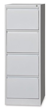 4 Drawer Metal Vertical Filing Cabinet Grey