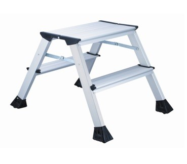 Outstanding L2 Foldable 2 Step Ladder Aluminum Height 45Cm 150Kg Capacity Inzonedesignstudio Interior Chair Design Inzonedesignstudiocom