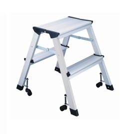 Prime L4 Foldable 2 Step Ladder Aluminum Height 45Cm 150Kg Capacity With Castors Inzonedesignstudio Interior Chair Design Inzonedesignstudiocom