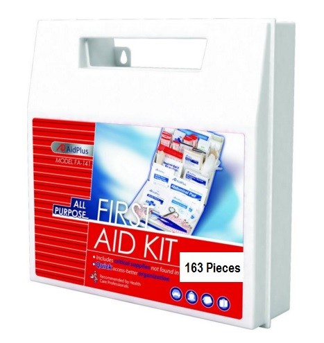 AidPlus FA-141 First Aid Kit, 50 Person [163 Pieces]