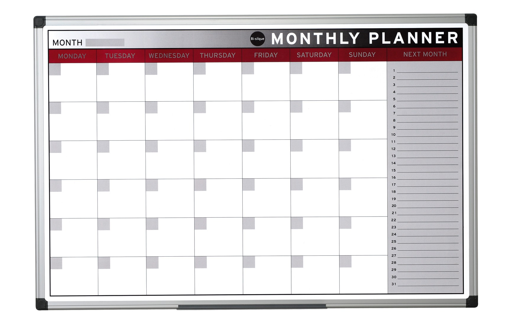 Bi office magnetic month planner 90cm x 60cm for Office planner