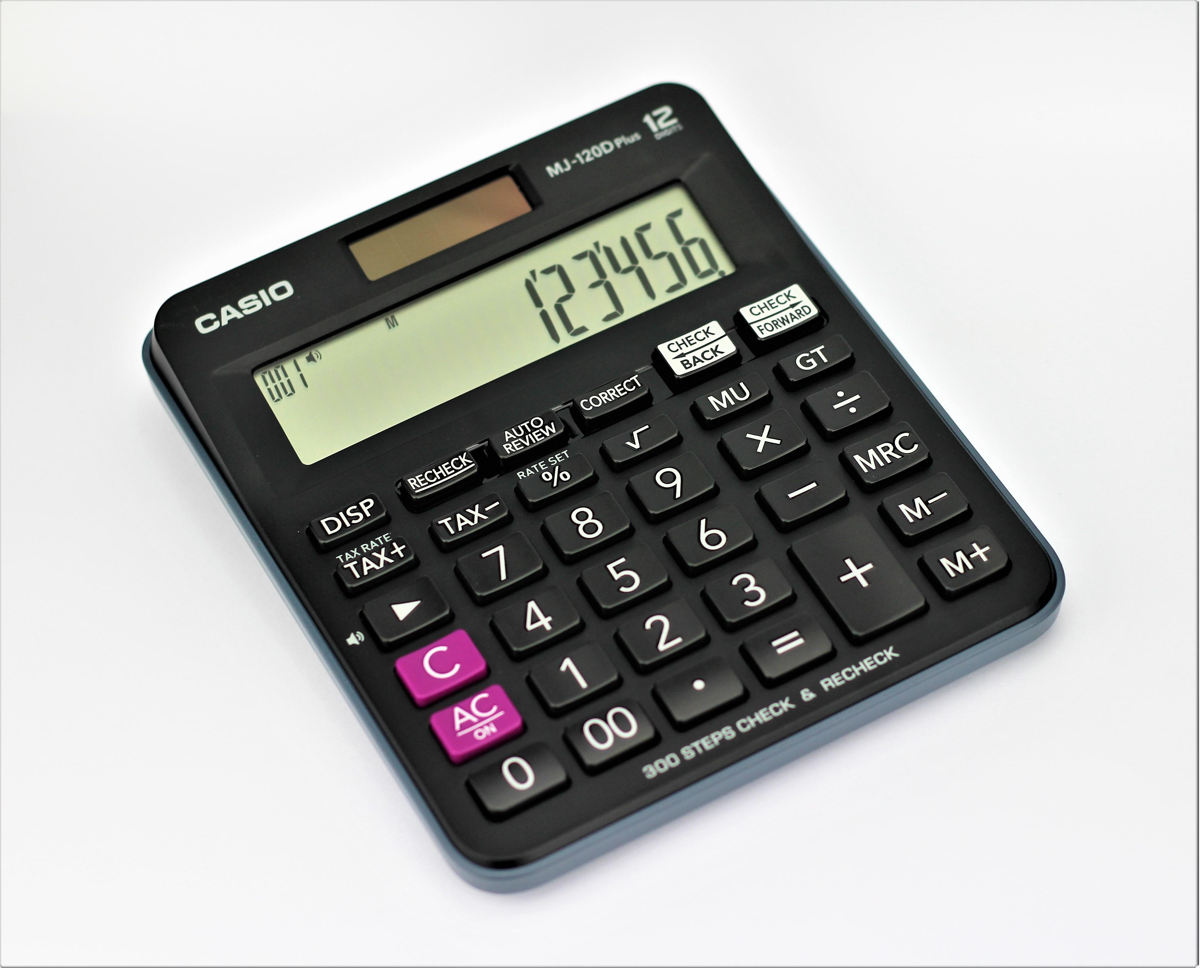 Casio Mj 120d Plus 12 Digits Check Calculator