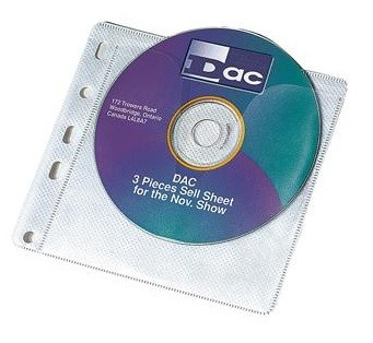 Double Sided CD DVD Binder Pockets Pack Of 100 200 Disc
