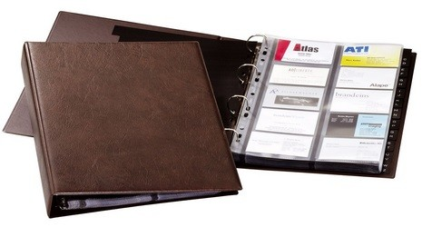 Durable 2384 Visifix A4 Business Card Album 400 Cards Brown