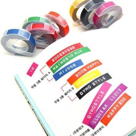 Dymo 3d Embossing Tape 9mm X 3m Red