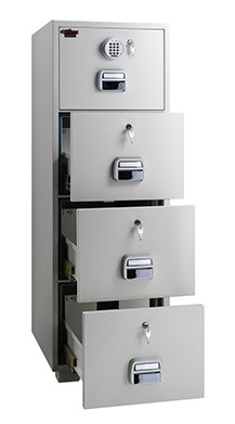 Eagle SF 680   4EKX 4 Drawer Fire Resistant Filing Cabinet 1 Key +  Electronic