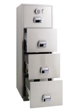 Eagle SF-680 - 4EKX 4 Drawer Fire Resistant Filing Cabinet 1 Key +  Electronic Lock