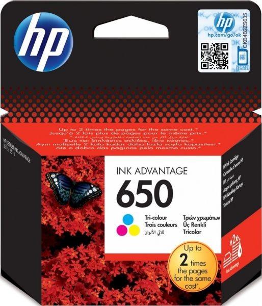 Hp 650 Colour Ink Cartridge Ink Advantage 1015 1515