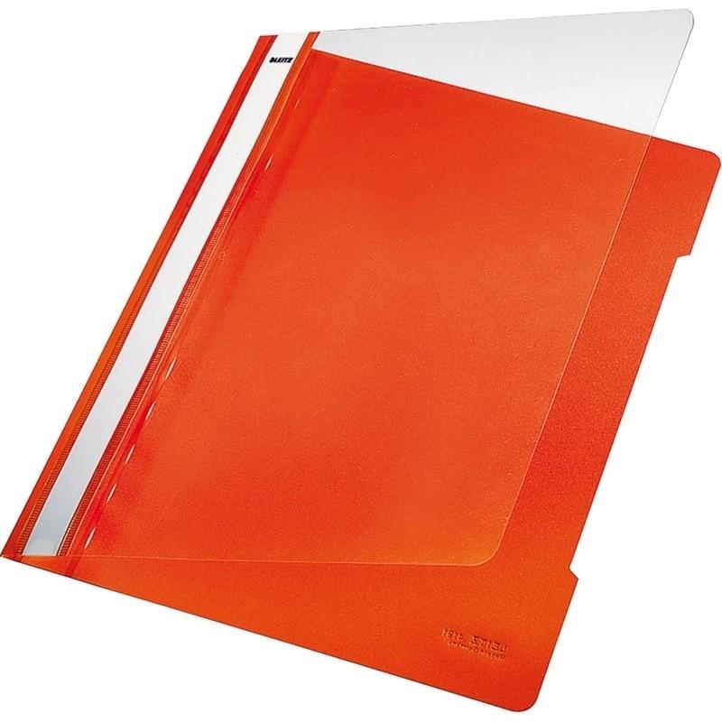LEITZ 4191 Clear View Folder PK 25 Orange
