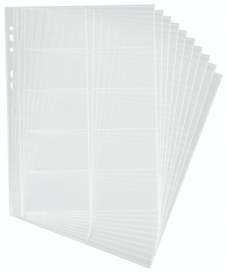 Business card holder desk accessories office supplies durable 2389 a4 transparent refill set 10pack 200 cards reheart Choice Image