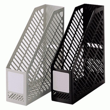 Plastic Magazine Rack, Black