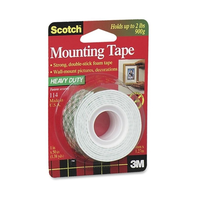 3m Scotch 114 Heavy Duty Double Sided Mounting Roll 1 Quot X 50 Quot