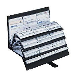 technostyl nc420 business card organizer 420 cards capacity - Business Card Organizer