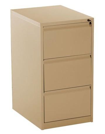 3 Drawer Metal Vertical Filing Cabinet Beige