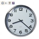 PUGG Quartz Wall Clock Dia 32MM White Stainless Steel Frame