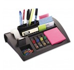 3M Post-it C50 Desk Organizer Set - Brown