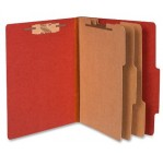 Acco 15038 Pressboard Classification Folders, Letter, 8-Section, Rouge