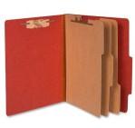 Acco 15038 Pressboard Classification Folders, Letter, 8-Section, Rouge