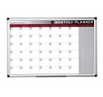 Bi-Office Magnetic Month Planner, 90cm X 60cm