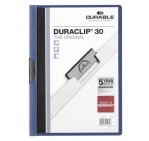 Durable 2200 DuraClip File, A4, 30 Sheets, Dark Blue