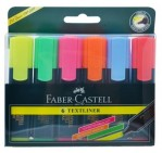 Faber-Castell Textliner, Assorted Colors, 6/Pack