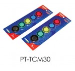 Whiteboard Magnets, 30 mm, 5 Pc/Pack, Assorted Colors
