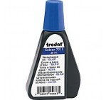 Trodat 7011 Stamp Pad Ink, 28ml, Blue