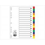 Index Divider, PVC Color,  A4, 15 Tabs
