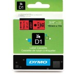 Dymo 45807, D1 Tape,19mm x 7m, Black on Red