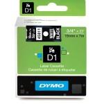 Dymo 45811, D1 Tape,19mm x 7m, White on Black