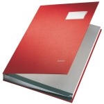 Leitz Signature Book 20 Compartments, Durable Blotting Card, 340x240mm, Red