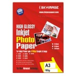 Tulip Inkjet Photo Glossy Paper A3 White 180gsm PK/ 50