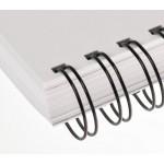 "Wire Binding Elements [2:1], 23 Loops (7/16""), 90 Sheets, PK/100 Black"