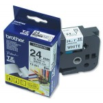 "Brother TZ-251 P-touch® Label Tape, 24mm, (1""), Black on White"