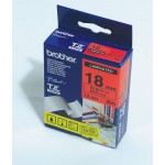 """Brother TZ-441 P-touch® Label Tape, 18mm, (3/4""""), Black on Red"""
