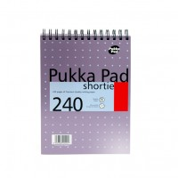 Pukka Shortie Metallic Pad, 80gsm, Ruled, Wirebound, 235mm X 178mm, 240 pages
