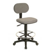Drafting Chair, Adjustable Height, Fabric Grey - TAIWAN