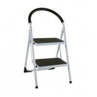 Homeworks Steel 2-Step Ladder Black
