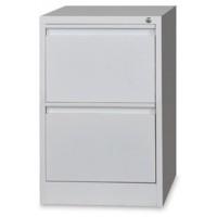 2-Drawer Metal Vertical Filing Cabinet Grey