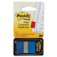 Post-it® Flags, 25x43mm, Blue, 50Flags w/dispenser, [Ref: 680-2]