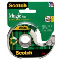 "3M Scotch 105 Magic Tape, with Plastic Dispenser 3/4"" X 300"""