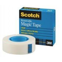 "3M Scotch 811-3436 Magic Tape, Removable, 3/4"" X 36 Yards"