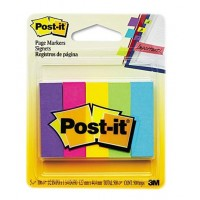 "Post-it® Page Markers, 5 X 100 sh/Pack, 1/2"" x 1 3/4"" [670-5AU] Ultra Colors"