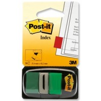 Post-it® Flags, 25x43mm, Green, 50Flags w/dispenser, [Ref: 680-3]