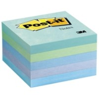 "Post-it® Notes 3"" x 3"", Aquatic Colors, 90 Sh/Pad, [Pack of 5 Pads]. [Ref: 654-5AQ]"