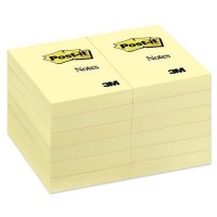 "Post-it® Notes 2"" x 3"", Canary Yellow, 100 Sh/Pad, [Ref: 656]"